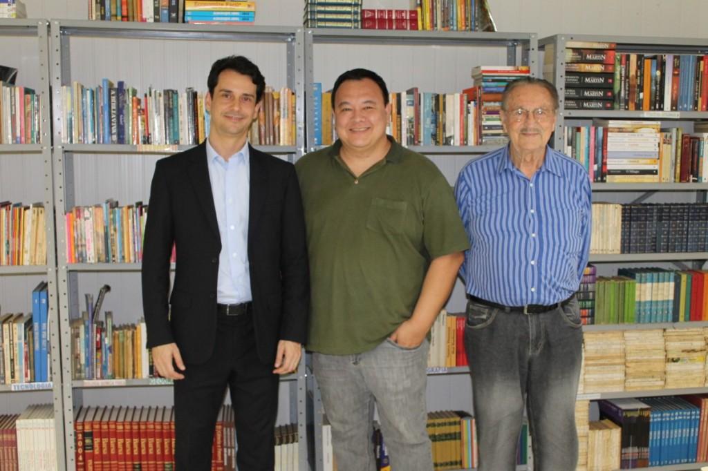 Membros da Diretoria do Projeto Ser Social:  Dr. André Carias de Araujo, Dr. Joel Pusgley e o recém reeleito Presidente da Associação dos Magistrados do Paraná, Frederico Mendes Júnior