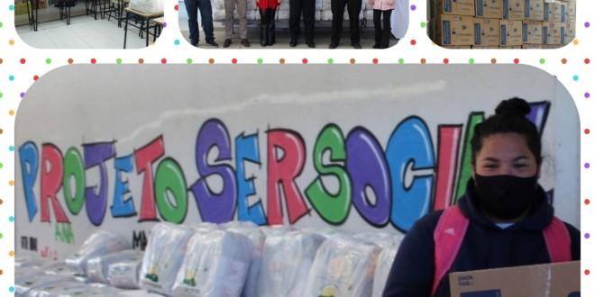 Ação solidária atende as famílias inscritas no Projeto SerSocial.